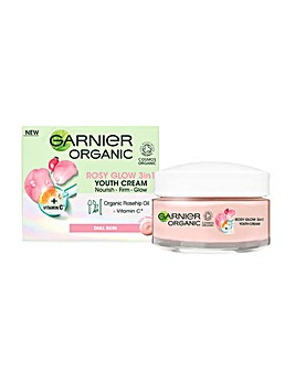 Garnier Organic Rosy Glow 3in1 Youth Cream 50ml