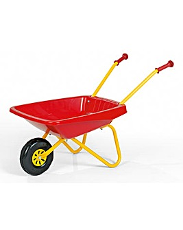 Metal & Plastic Wheelbarrow Red & Yellow