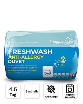 Snuggledown Freshwash Anti Allergy 4.5 Tog Duvet