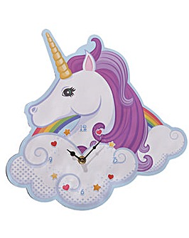 Unicorn and Rainbow Design Wall Clock