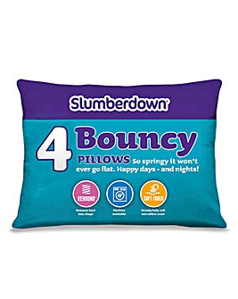 Slumberdown Pack 4 Bouncy Pillows