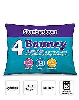 Slumberdown Pack 4 Bouncy Pillows