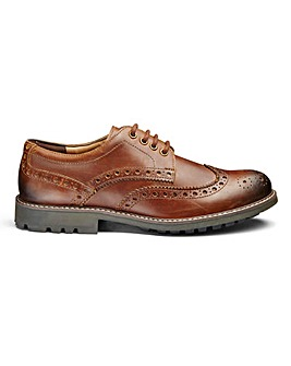 Leather Brogues Extra Wide Fit
