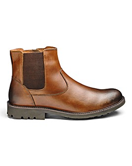Leather Chelsea Boots Extra Wide