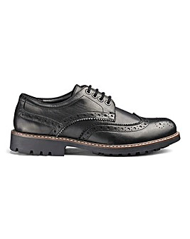 Leather Cleated Brogues Standard Fit