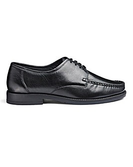 Leather Lace Up Shoes Wide Fit