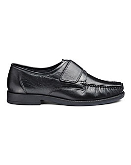 Easy Fasten Leather Moccasin Wide Fit
