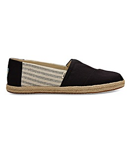 Toms Black Stripe University Classic