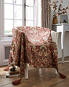 William Morris Lodden Velour Throw