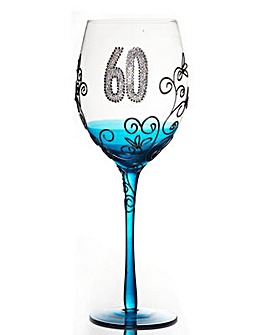 CLEAR WINE GLASS - AGE 60