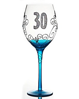 CLEAR WINE GLASS - AGE 30