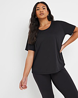 Sustainable Black Active T-shirt
