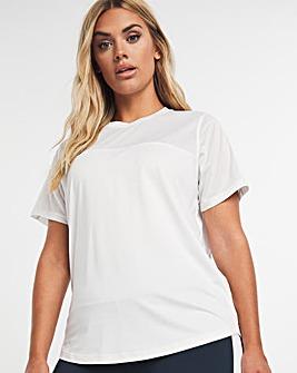 White Sustainable Active Mesh T-Shirt