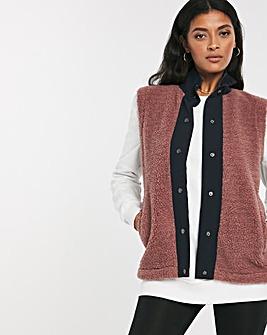 Blush Mix Fabric Gilet