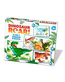 Dinosaur Roar 4 in 1 Jigsaw Puzzle