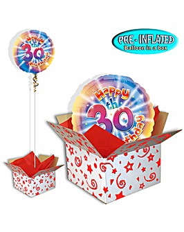 Happy 30th Birthday Balloon In A Box
