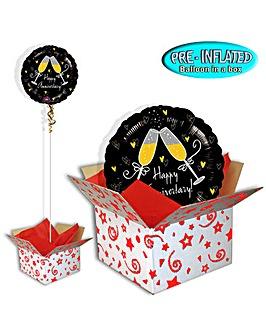 Happy Anniversary Balloon In A Box
