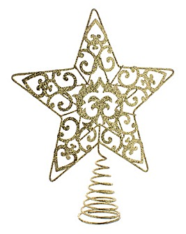 Star Christmas Tree Topper - Gold