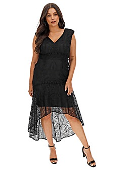 Coast Cato Black Lace Dress
