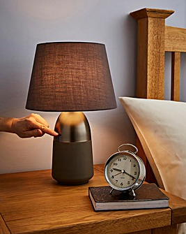 Nickel Touch Lamp