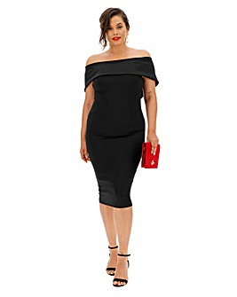 Coast Rozanne Scuba Bardot Dress