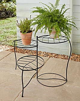 Metal leaf Flower Stand