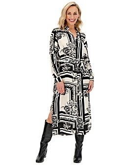 Vero Moda Abstract Print Shirt Dress