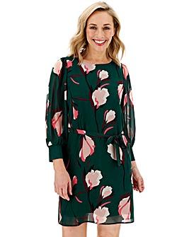 Vero Moda Floral Print Tie Waist Dress