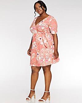 6a53a0fd9fd Quiz Scarf Print Wrap Dress