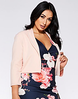 Quiz Cropped Blush Jacket