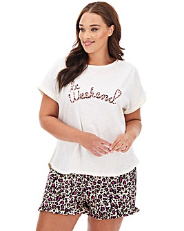 Oasis Lounge Animal Print Weekend Tee