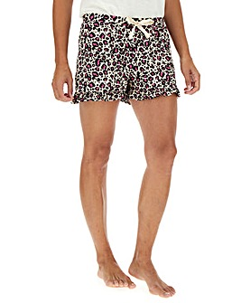 Oasis Lounge Animal Print Frill Short