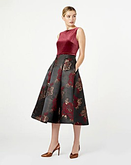 Hobbs Fit & Flare Floral Prom Dress