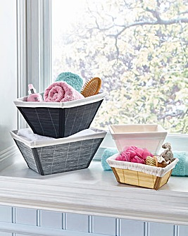 Bamboo Basket with Washable Liner