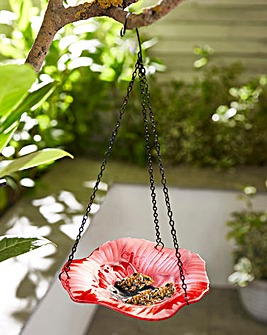 Poppy Hanging Bird Feeder