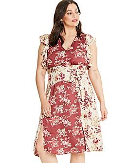 Glamorous Vintage Floral Midi Dress