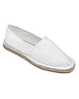 Southbay White Slip-On Espadrilles