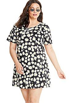 Glamorous Daisy Print T-Shirt Dress