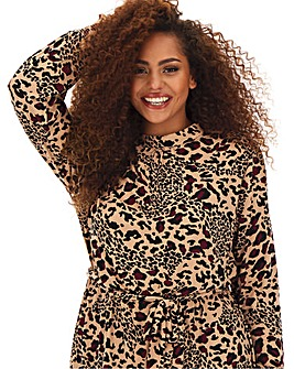 Oasis Curve Animal Print Tiered Dress