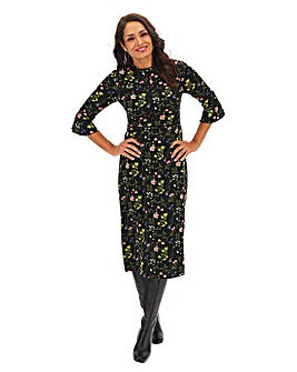 Oasis Curve Print Midi Dress