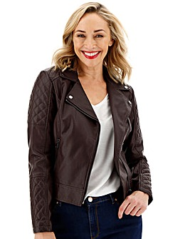 Oasis Curve Leather Look Jacket