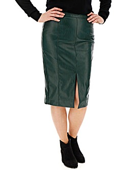 Oasis Curve Leather Look Pencil Skirt