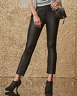 Tapered Zip Trim Stretch Trousers Reg