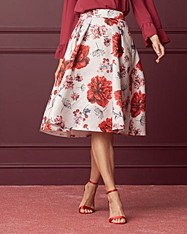 Floral Printed Prom Skirt