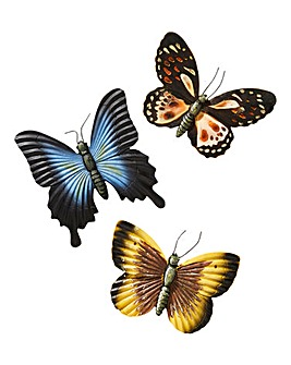 Set of 3 Glow in the Dark Butterflies