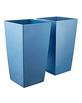 Set of 2 Plastic Planters