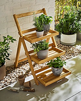 Wooden Folding Pot Shelf