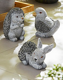 Set of 3 Animal Garden Ornaments