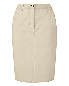 Petite Comfort Stretch Chino Skirt