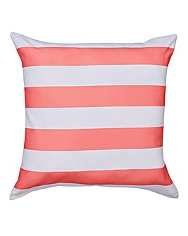 Coral Bold Stripe Outdoor Cushion